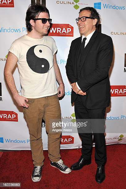 Director David O Russell and his Son Matthew arrive at TheWrap 4th Annual PreOscar Party at Four Seasons Hotel Los Angeles at Beverly Hills on...