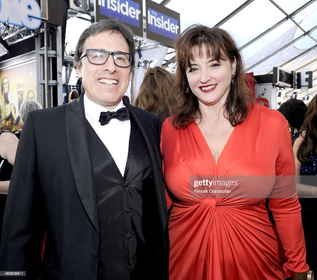 Director David O. Russell and Holly Davis attend the 20th Annual Screen Actors Guild Awards at The Shrine Auditorium on January 18, 2014 in Los Angeles, California.