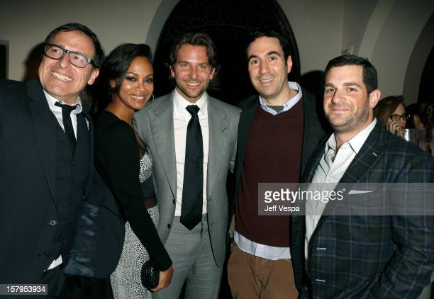 Director David O Russell Zoe Saldana Bradley Cooper producer John Gordon and agent Dave Bugliari attend the SILVER LININGS PLAYBOOK Event Hosted By...