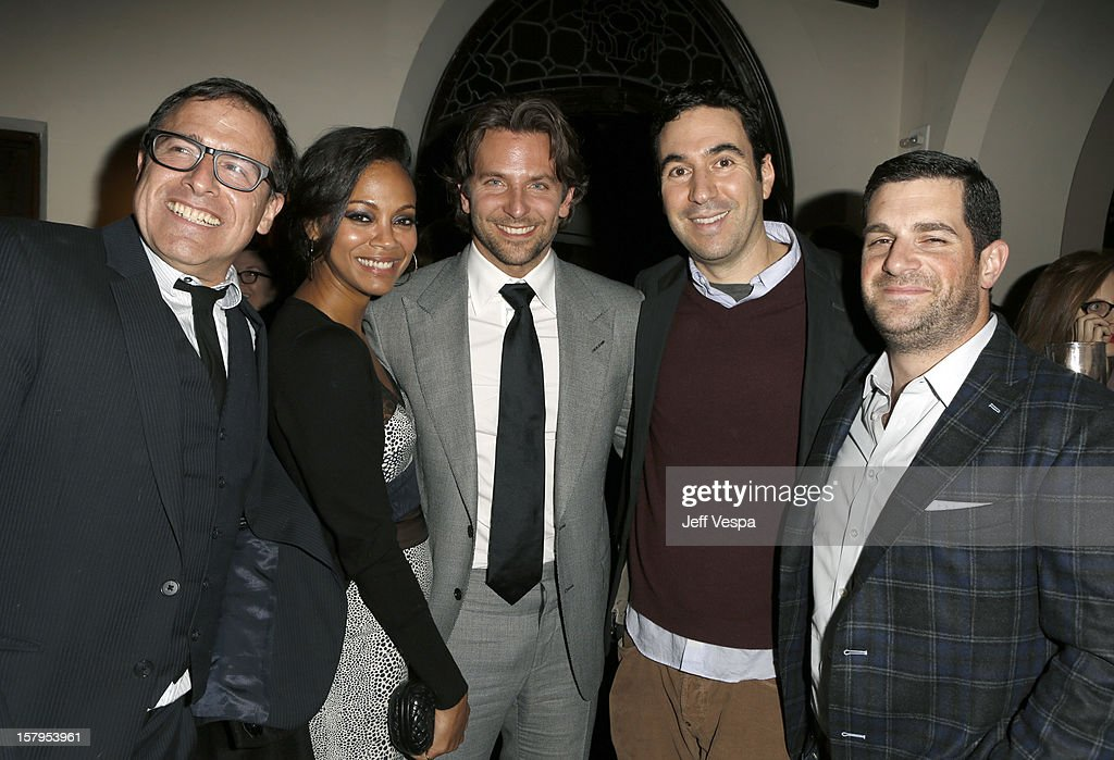 Director David O. Russell, Zoe Saldana, Bradley Cooper, producer John Gordon and agent Dave Bugliari attend the SILVER LININGS PLAYBOOK Event Hosted By Lexus And Purity Vodka at Chateau Marmont on December 7, 2012 in Los Angeles, California.