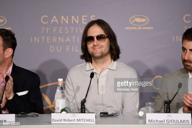 Director David Robert Mitchell speaks at the 'Under The Silver Lake' Press Conference during the 71st annual Cannes Film Festival at Palais des...