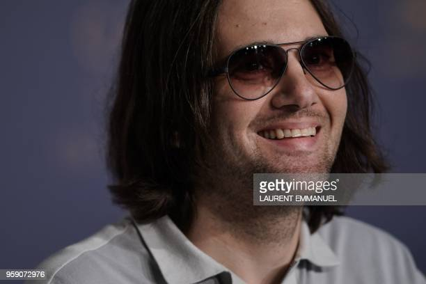 US director David Robert Mitchell speaks during a press conference on May 16 2018 for the film 'Under the Silver Lake' at the 71st edition of the...