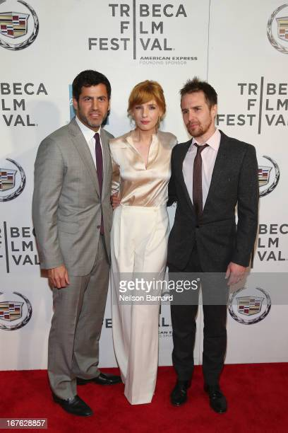 Director David Rosenthal Kelly Reilly and Sam Rockwell attend the Tribeca Film Festival 2013 after party for A Single Shot sponsored by Heineken on...