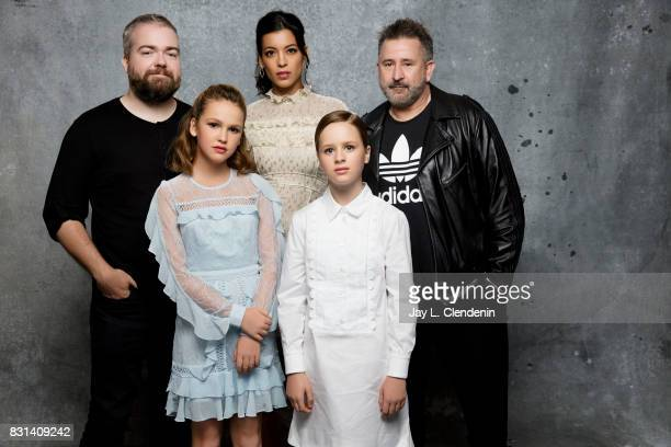 Director David Sandberg actress Talitha Bateman actress Stephanie Sigman actress Lulu Wilson and actor Anthony LaPaglia from the film 'Annabelle...