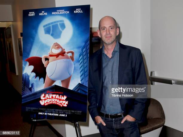 Director David Soren attends a screening of 'Captain Underpants' hosted by The Moms at RealD Screening Room on May 19 2017 in Beverly Hills California