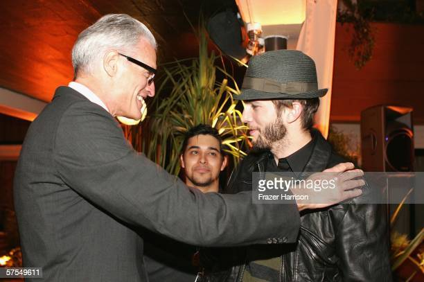 Director David Trainer with Ashton Kutcher at the Fox Television 'That 70s Show' wrap party held at Tropicana at The Roosevelt Hotel on may 6 2006 in...