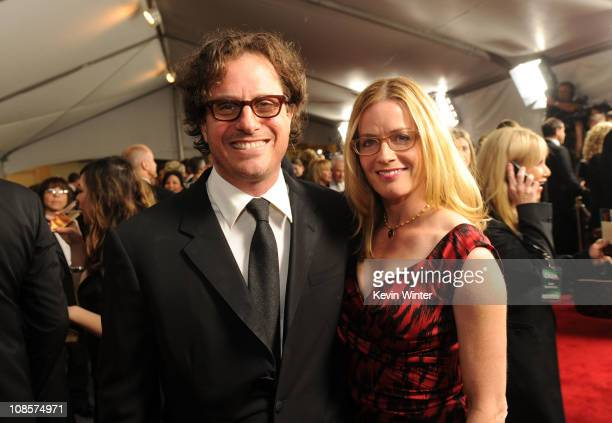 Director Davis Guggenheim and actress Elisabeth Shue attend the 63rd Annual Directors Guild Of America Awards cocktail reception held at outside of...