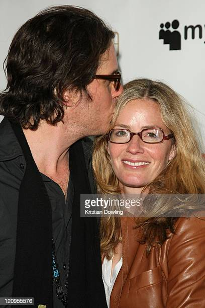 Director Davis Guggenheim and actress Elisabeth Shue attends the 'It Will Get Loud' After Party on January 17th 2009 in Park City Utah