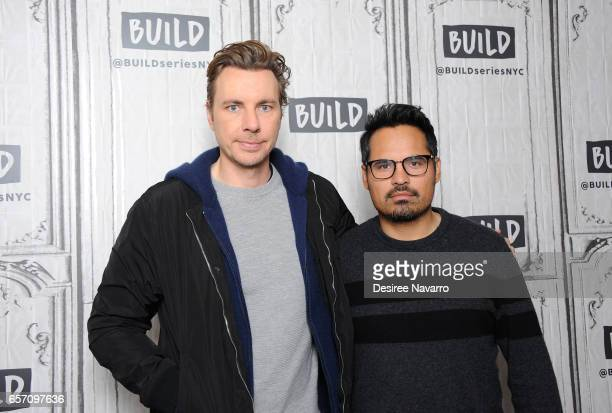 Director Dax Shepard and actor Michael Pena attend Build Series to discuss 'CHiPs' at Build Studio on March 23 2017 in New York City