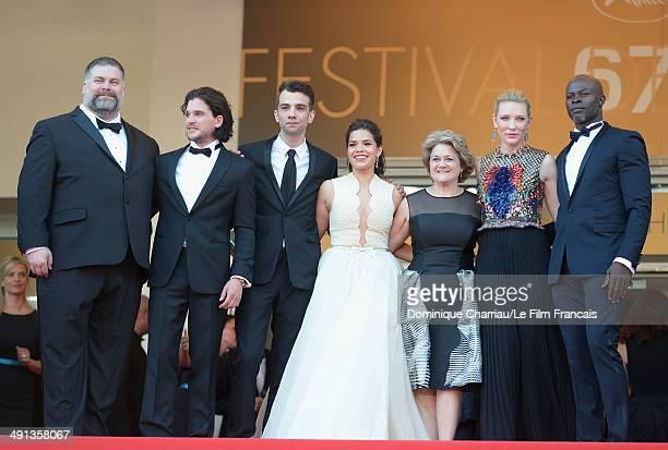 Director Dean DeBlois actors Kit Harington Jay Baruchel America Ferrera producer Bonnie Arnold actors Cate Blanchett and Djimon Hounsou attend the...