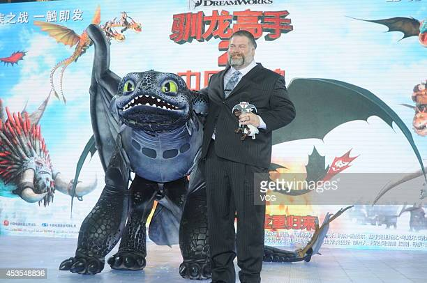Director Dean DeBlois attends film How to Train Your Dragon 2 premiere at Jing An ShangriLa on August 12 2014 in Shanghai China