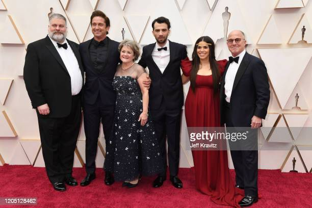 Director Dean DeBlois Gerard Butler producer Bonnie Arnold Jay Baruchel America Ferrera and producer Brad Lewis attend the 92nd Annual Academy Awards...