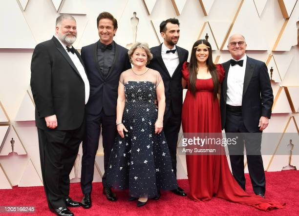 Director Dean DeBlois Gerard Butler producer Bonnie Arnold Jay Baruchel America Ferrera and producer Bradford Lewis attend the 92nd Annual Academy...