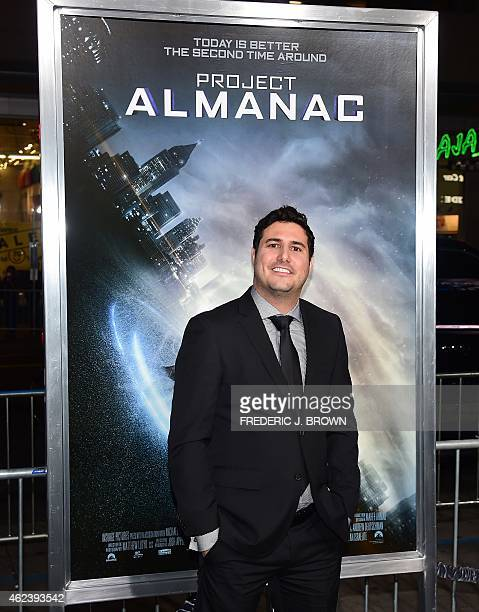 Director Dean Israelite poses on arrival for the Los Angeles Premiere of Project Almanac on January 27 2015 in Hollywood California The film opens...