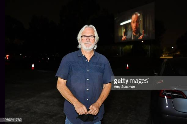 """Director Dean Parisot attends a surprise screening of """"Bill & Ted Face The Music"""" at Mission Tiki Drive-in Theater on August 27, 2020 in Montclair,..."""