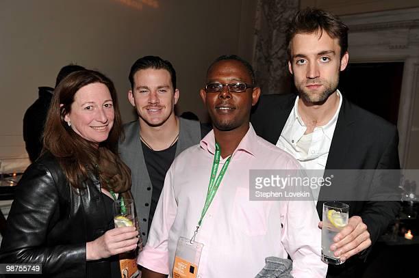 Director Deborah Scranton actor/producer Channing Tatum fixer Jean Pierre Sagahutu and producer Reid Carolin attend the Awards Night Show Party...
