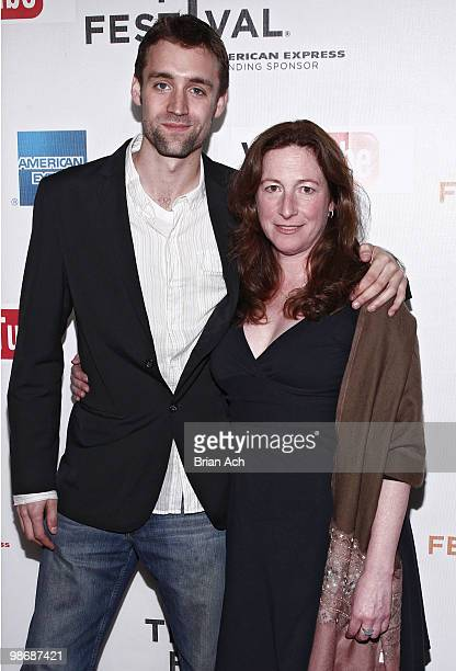 Director Deborah Scranton and producer Reid Carolin attend the Earth Made of Glass premiere during the 9th Annual Tribeca Film Festival at the...