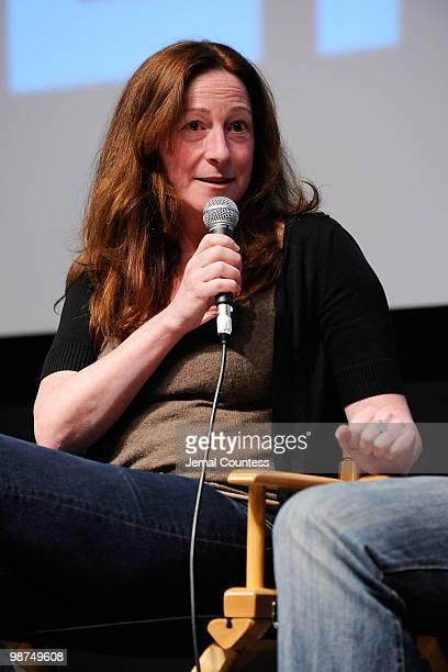 Director Deborah Scranton speaks at the Film Fellows Press Conference during the 2010 Tribeca Film Festival during the 2010 Tribeca Film Festival at...