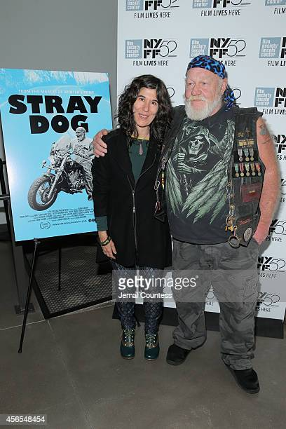 Director Debra Granik and Ronnie 'Stray Dog' Hall attend the Stray Dog photo call during the 52nd New York Film Festival at Film Center Amphitheater...