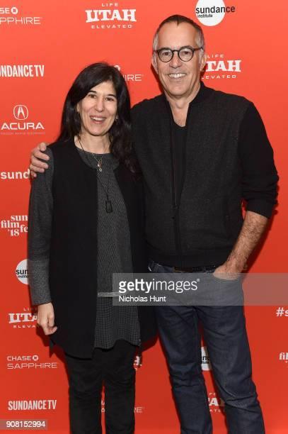 """Director Debra Granik and Sundance Film Festival Director John Cooper attend the """"Leave No Trace"""" Premiere during the 2018 Sundance Film Festival at..."""