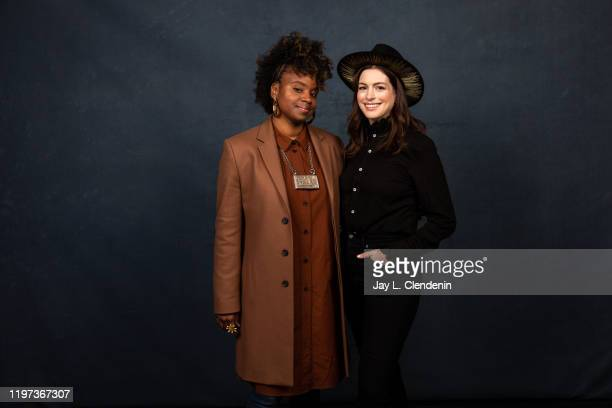 Director Dee Rees and actress Anne Hathaway from 'The Last Thing He Wanted' are photographed in the LA Times Studio at the Sundance Film Festival on...