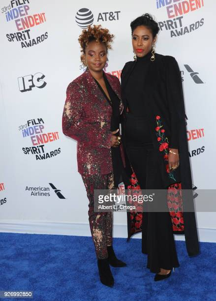 Director Dee Rees and Sarah Broom arrive for the 2018 Film Independent Spirit Awards on March 3 2018 in Santa Monica California