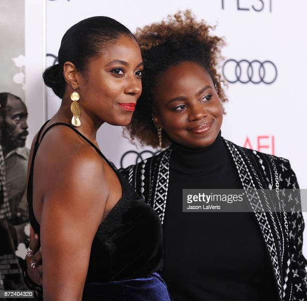 Director Dee Rees and Sarah Broom attend the 2017 AFI Fest opening night gala screening of 'Mudbound' at TCL Chinese Theatre on November 9 2017 in...