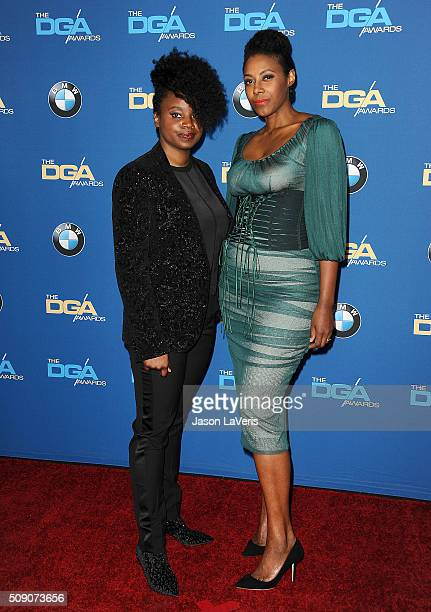 Director Dee Rees and Sarah Broom attend the 68th annual Directors Guild of America Awards at the Hyatt Regency Century Plaza on February 6 2016 in...