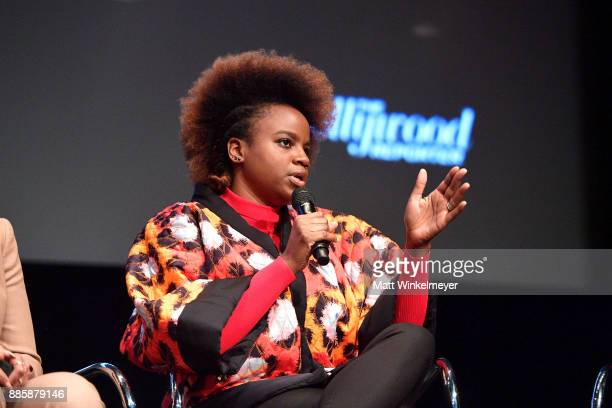 Director Dee Rees speaks onstage during the Hammer Museum presents The Contenders 2017 'Mudbound' at Hammer Museum on December 4 2017 in Los Angeles...