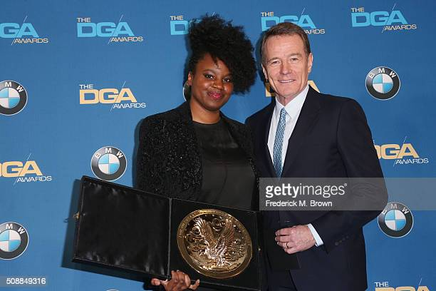 Director Dee Rees winner of the Outstanding Directorial Achievement in Movies for Television and MiniSeries Award for Bessie and actor Bryan Cranston...