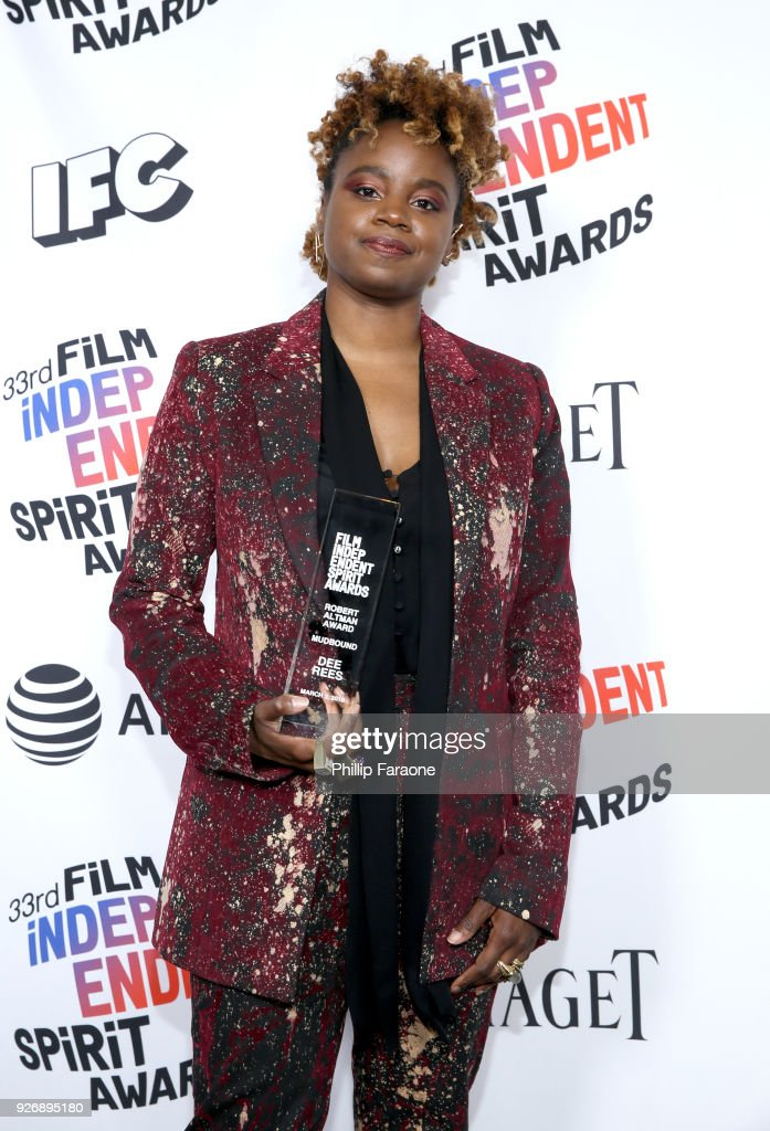 Director Dee Rees, winner of the Robert Altman Award for 'Mudbound', poses in the press room during the 2018 Film Independent Spirit Awards on March 3, 2018 in Santa Monica, California.
