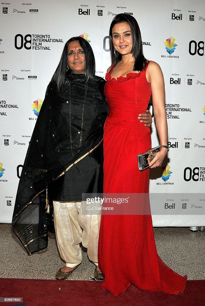 Director Deepa Mehta and actress Preity Zinta arrive at the `Heaven On Earth` premiere during the 2008 Toronto Internation Film Festival held at The..