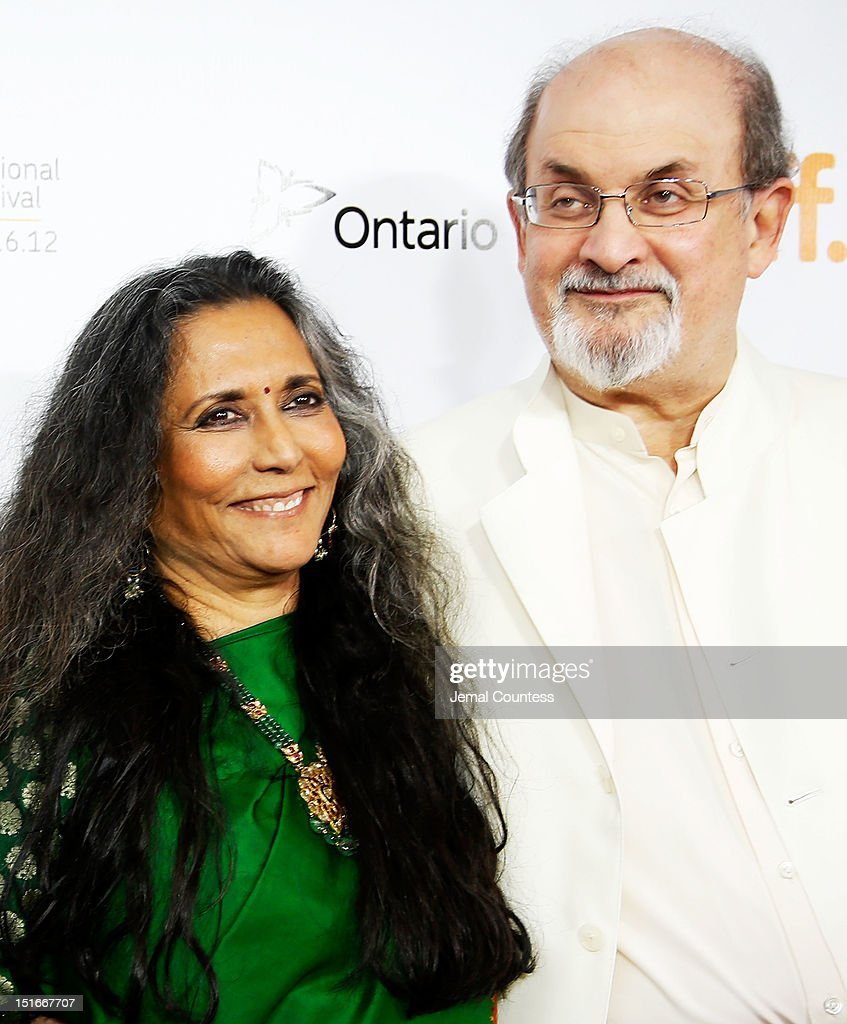 Director Deepa Mehta (L) and writer Salman Rushdie arrive at the 'Midnight's Children' Premiere at the 2012 Toronto International Film Festival at Roy Thomson Hall on September 9, 2012 in Toronto, Canada.