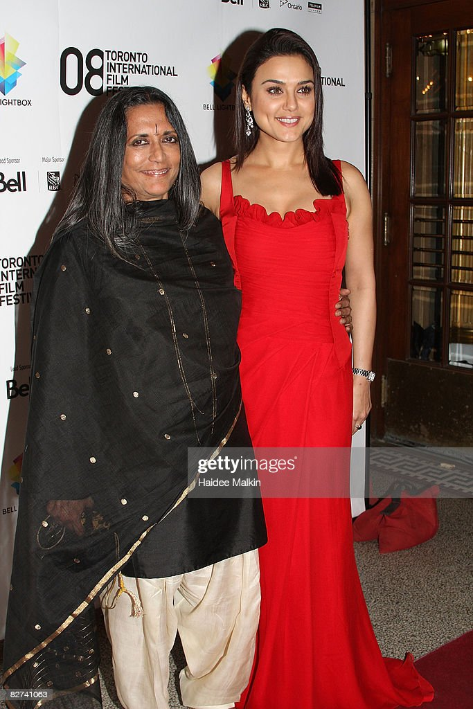 Director Deepah Mehta and actress Preity Zinta arrive at the `Heaven on Earth` Premiere held at The Visa Screening Room at the Elgin Theatre during...