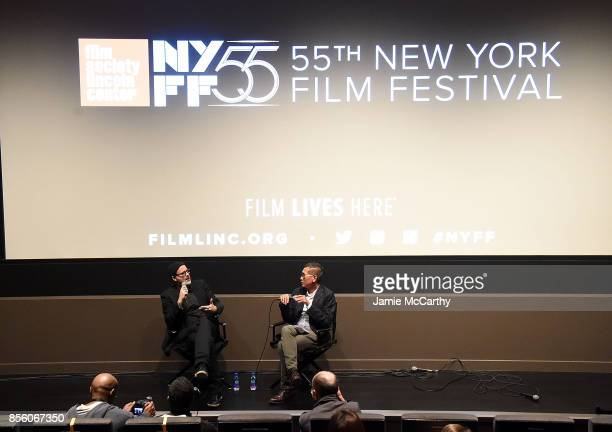 Director Denis Cte and Denis Lin attend the 55th New York Film Festival 'A Skin So Soft' at Francesca Beale Theater on September 30 2017 in New York...