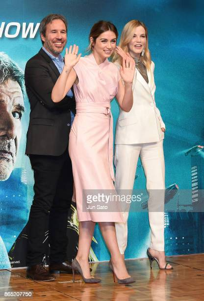 Director Denis Villeneuve and actresses Ana de Armas and Sylvia Hoeks attend the 'Blade Runner 2049' press confrence at the RitzCarlton on October 23...