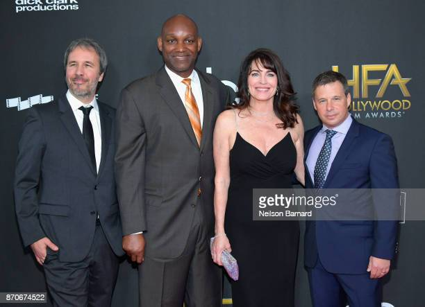 Director Denis Villeneuve and honorees Broderick Johnson Cynthia Sikes and Andrew Kosove attend the 21st Annual Hollywood Film Awards at The Beverly...
