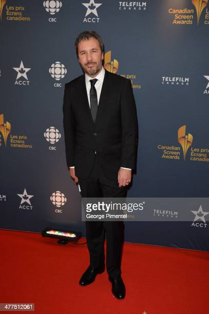 Director Denis Villeneuve arrives at the Canadian Screen Awards at Sony Centre for the Performing Arts on March 9 2014 in Toronto Canada