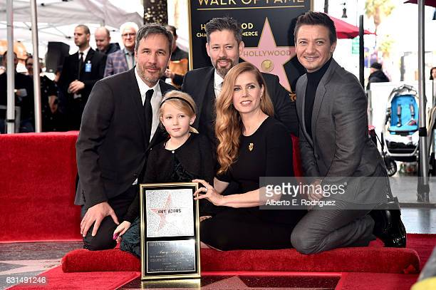 Director Denis Villeneuve Aviana Olea Le Gallo Darren Le Gallo actress Amy Adams and actor Jeremy Renner attend Amy Adams' star ceremony on the...