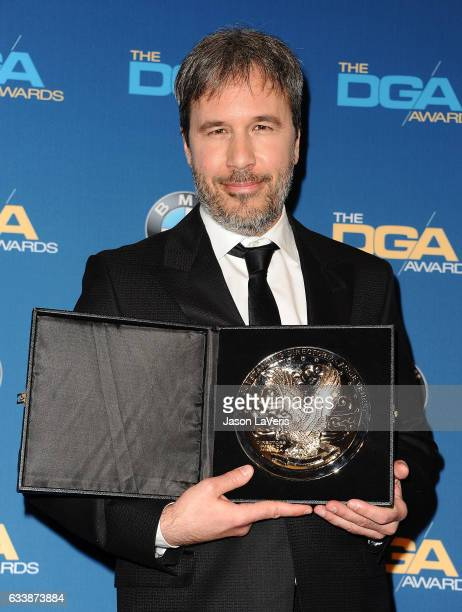 Director Denis Villeneuve poses in the press room at the 69th annual Directors Guild of America Awards at The Beverly Hilton Hotel on February 4 2017...