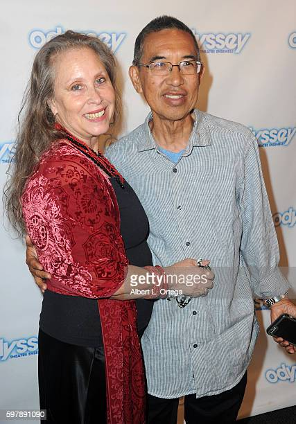 Director Denise Blasor and writer Henry Ong arrive for the Reading Of 'The Blade Of Jealousy/La Celsa De Misma' held at The Odyssey Theatre on August...