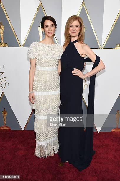Director Deniz Gamze Erguven and Academy of Motion Picture Arts and Sciences CEO Dawn Hudson attend the 88th Annual Academy Awards at Hollywood...