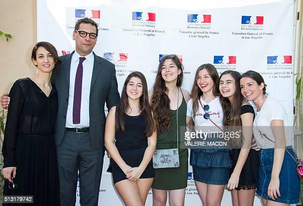 Director Deniz Gamze Erguven Consul General of France Christophe Lemoine Actresses Doga Zeynep Doguslu Tugba Sunguroglu Ilayda Akdogan Gunes Nezihe...
