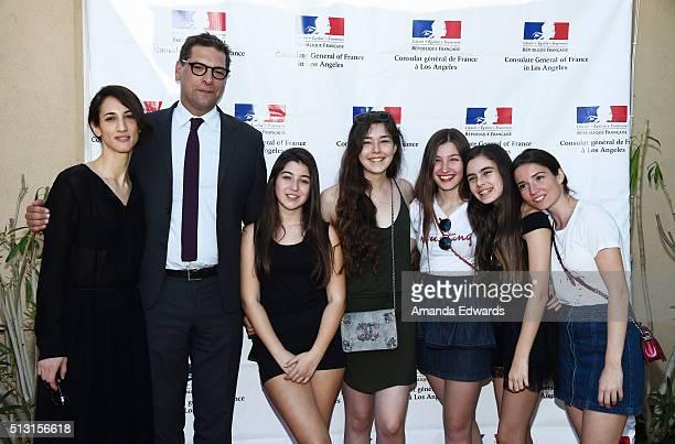 Director Deniz Gamze Erguven the Consul General of France in Los Angeles Christophe Lemoine and actresses Doga Zeynep Doguslu Tugba Sunguroglu Ilayda...