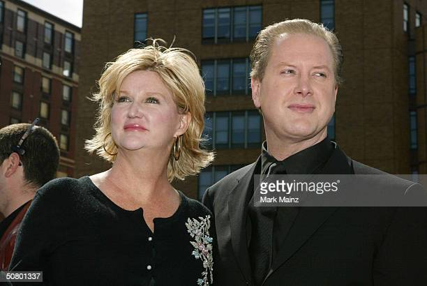 Director Dennie Gordon and actor Darrell Hammond pose at the gala premiere of New York Minute during the 2004 Tribeca Film Festival at Tribeca...