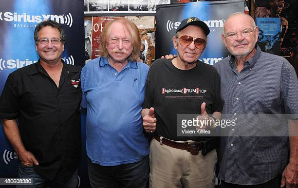 Director Denny Tedesco and musicians Don Randi Hal Blaine and Chuck Berghofer attend SiriusXM's 'Town Hall' With Hal Blaine Don Randi Chuck Berghofer...