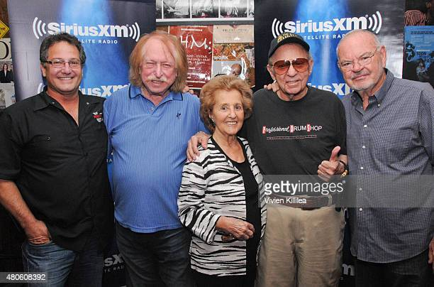 Director Denny Tedesco musician Don Randi Carmie Tedesco and musicians Hal Blaine and Chuck Berghofer attend SiriusXM's 'Town Hall' With Hal Blaine...