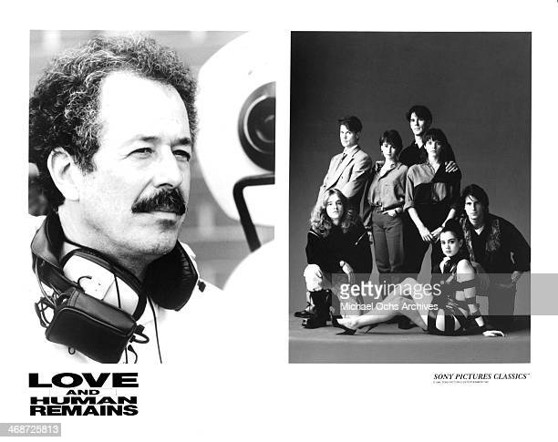 Director Denys Arcand actors Thomas Gibson Joanne Vannicola Rick Roberts Mia Kirshner Matthew Ferguson Cameron Bancroft and Ruth Marshall on set of...