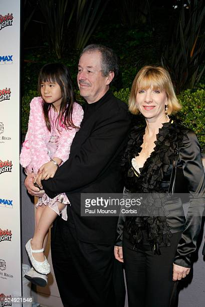 Director Denys Arcand and family arrive at the Miramax PreOscar 2004 Max Awards party at the StRegis Hotel