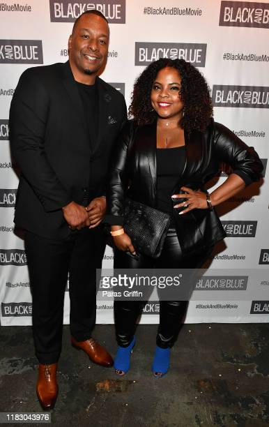 Director Deon Taylor and actress Brely Evans attend Black and Blue Atlanta special screening after party at Sweet Auburn BBQ on October 23 2019 in...